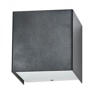 Настенный светильник Nowodvorski Cube 5272, 1xG9x50W, серый, металл со стеклом, стекло