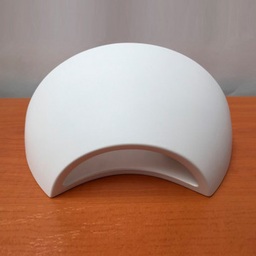 Настенный светильник Nowodvorski Gipsy Moon 5451, 1xE27x60W, белый, под покраску, гипс со стеклом, стекло