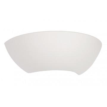 Настенный светильник Nowodvorski Gipsy Moon 5452, 1xE27x60W, белый, под покраску, стекло с гипсом, стекло