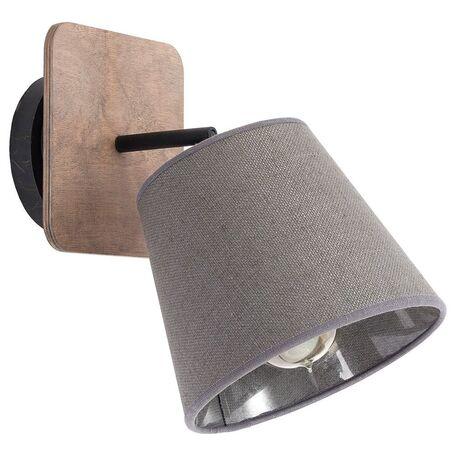 Настенный светильник с регулировкой направления света Nowodvorski Awinion 9718, 1xE27x60W, коричневый, серый, дерево, текстиль