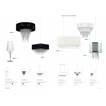 Настольная лампа Nowodvorski Modena 5262, 1xE14x40W, хром, черный, прозрачный, металл, текстиль, пластик - миниатюра 2