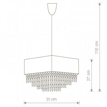 Схема с размерами Nowodvorski 4014