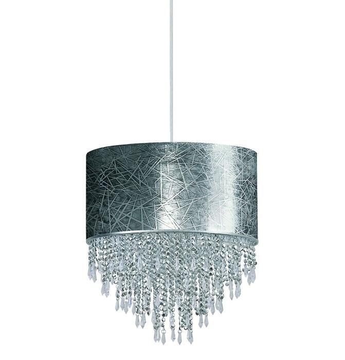 Подвесная люстра Nowodvorski Bolzano 4020, 1xE27x60W, хром, серый, прозрачный, металл, текстиль, пластик - фото 1