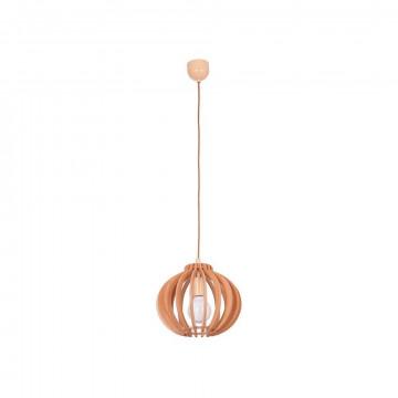 Подвесной светильник Nowodvorski Ika 4173, 1xE27x75W, коричневый, дерево