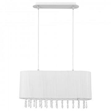 Подвесной светильник Nowodvorski Corsica 4524, 2xE27x40W, белый, прозрачный, металл, текстиль, хрусталь