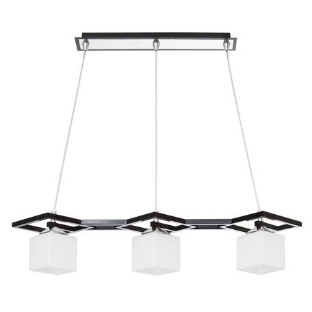 Подвесной светильник Nowodvorski VERO 4571, 3xE27x60W, хром, черный, белый, металл, стекло