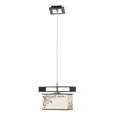 Подвесной светильник Nowodvorski Alicante 4825, 1xE27x60W, черный, бежевый, коричневый, дерево, металл, текстиль