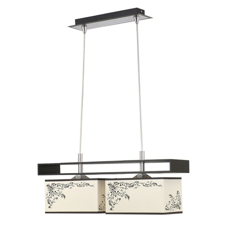Подвесной светильник Nowodvorski Alicante 4826, 2xE27x60W, черный, бежевый, коричневый, дерево, металл, текстиль - миниатюра 1