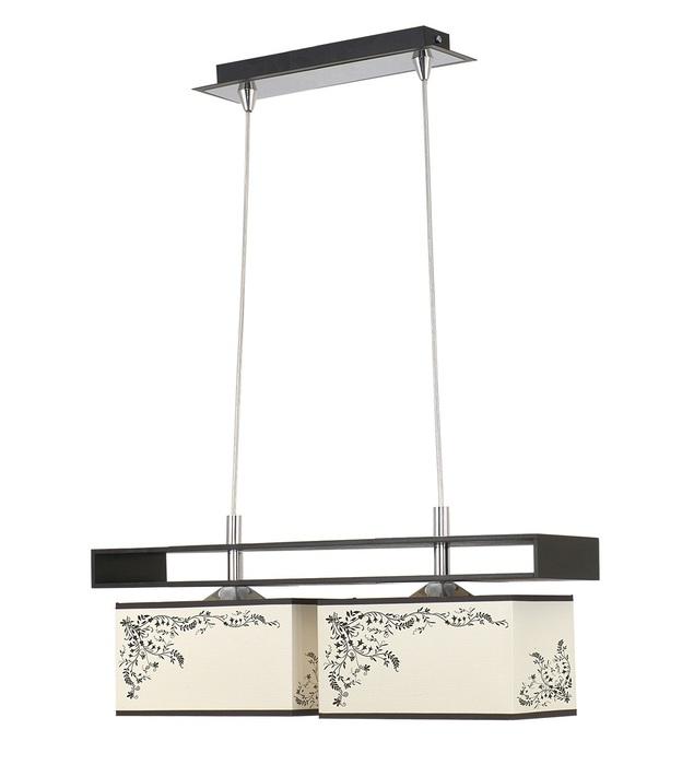 Подвесной светильник Nowodvorski Alicante 4826, 2xE27x60W, черный, бежевый, коричневый, дерево, металл, текстиль - фото 1