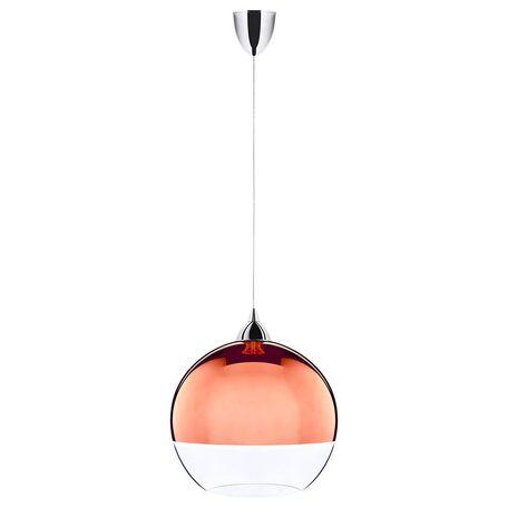 Подвесной светильник Nowodvorski Globe Copper 5763, 1xE27x60W, хром, медь с прозрачным, прозрачный с медью, металл, стекло