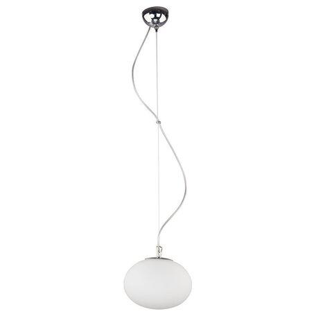Подвесной светильник Nowodvorski Nuage 7024, 1xE27x60W, хром, белый, металл, стекло