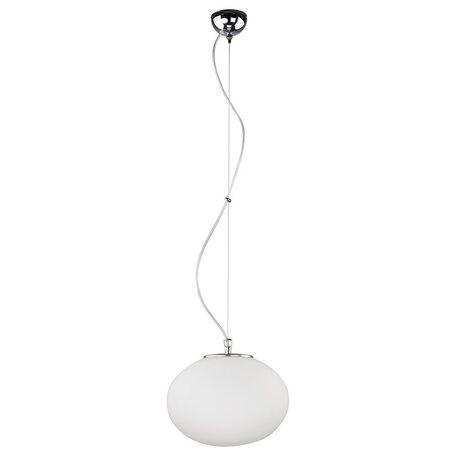 Подвесной светильник Nowodvorski Nuage 7025, 1xE27x60W, хром, белый, металл, стекло
