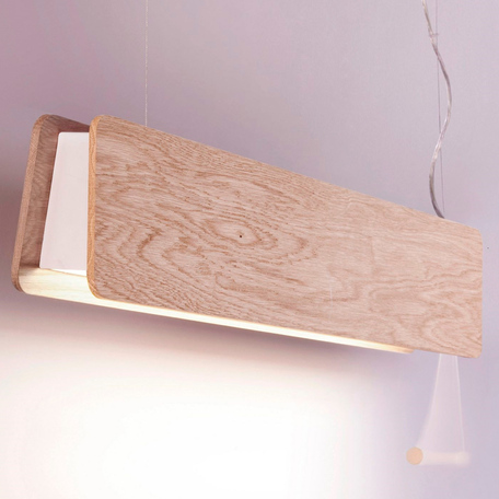 Подвесной светильник Nowodvorski Oslo 9635, 1xG13T8x10W, белый, коричневый, металл, дерево