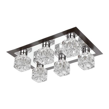 Потолочная люстра Nowodvorski Costa 4122, 6xG9x40W, хром, черный, прозрачный, металл, стекло