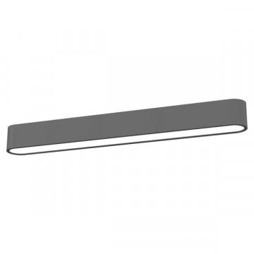 Потолочный светильник Nowodvorski Soft 6990, 1xG5T5x24W, белый, серый, металл, пластик