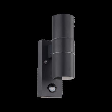 Настенный светильник Eglo Riga 5 32899, IP44, 2xGU10x3W, серый, металл, стекло