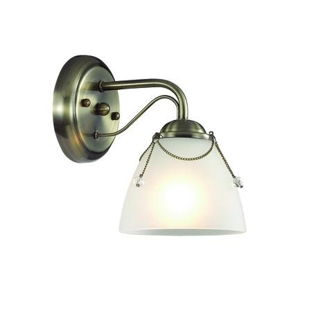Бра Lumion Debora 3146/1W, 1xE14x60W, бронза, прозрачный, металл, стекло - миниатюра 1