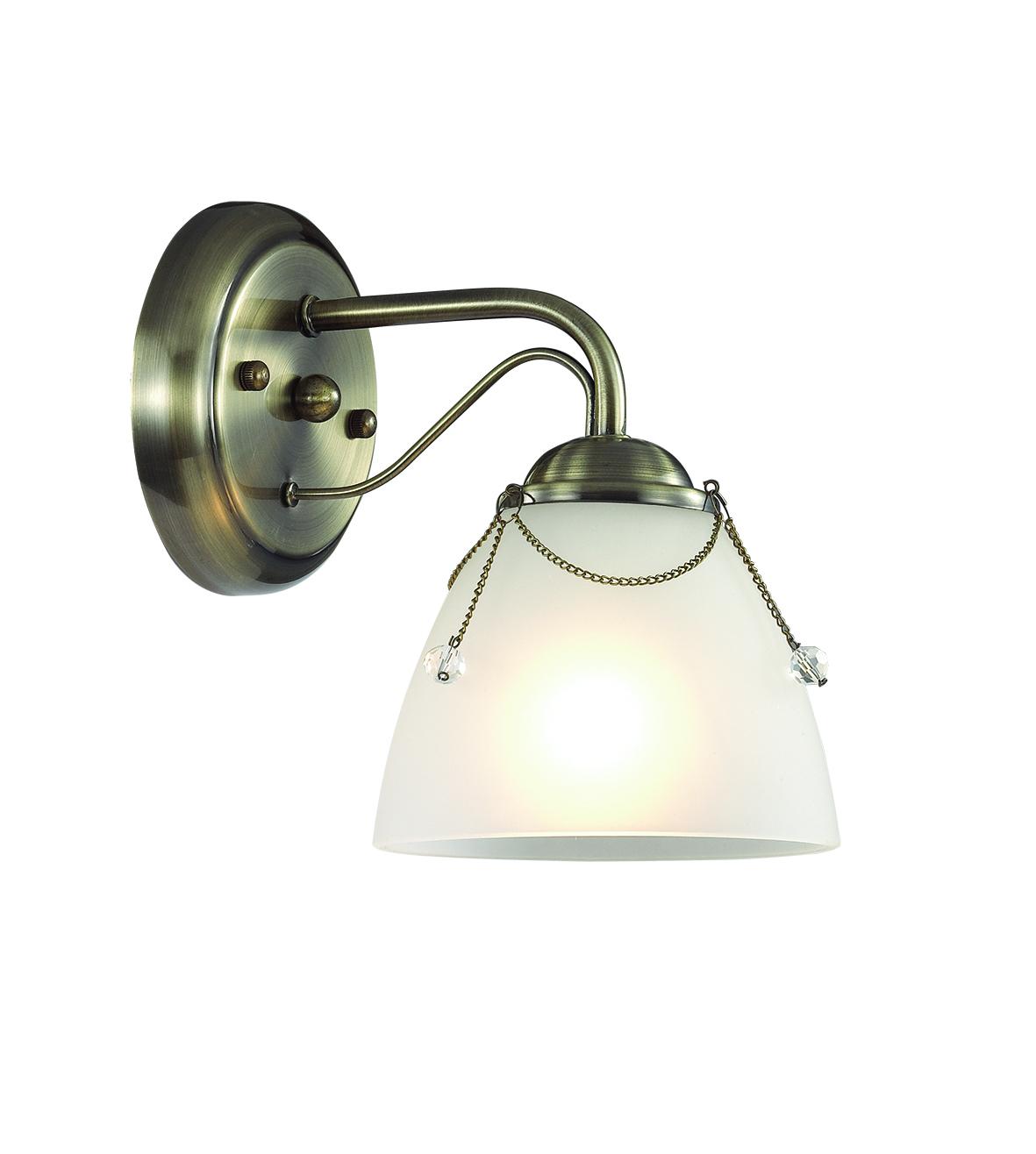 Бра Lumion Debora 3146/1W, 1xE14x60W, бронза, прозрачный, металл, стекло - фото 1