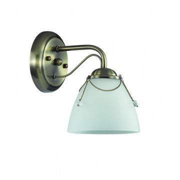 Бра Lumion Debora 3146/1W, 1xE14x60W, бронза, прозрачный, металл, стекло - миниатюра 2