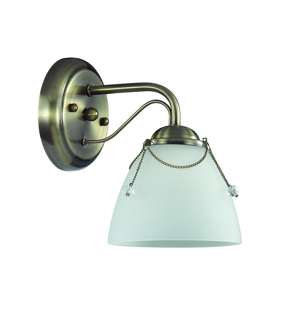 Бра Lumion Debora 3146/1W, 1xE14x60W, бронза, прозрачный, металл, стекло - фото 2