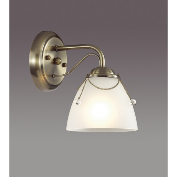 Бра Lumion Debora 3146/1W, 1xE14x60W, бронза, прозрачный, металл, стекло - миниатюра 3