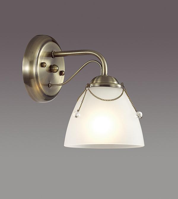 Бра Lumion Debora 3146/1W, 1xE14x60W, бронза, прозрачный, металл, стекло - фото 3