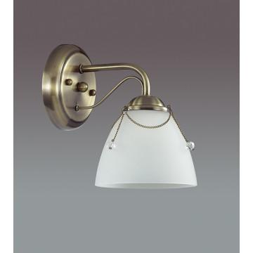 Бра Lumion Debora 3146/1W, 1xE14x60W, бронза, прозрачный, металл, стекло - миниатюра 4