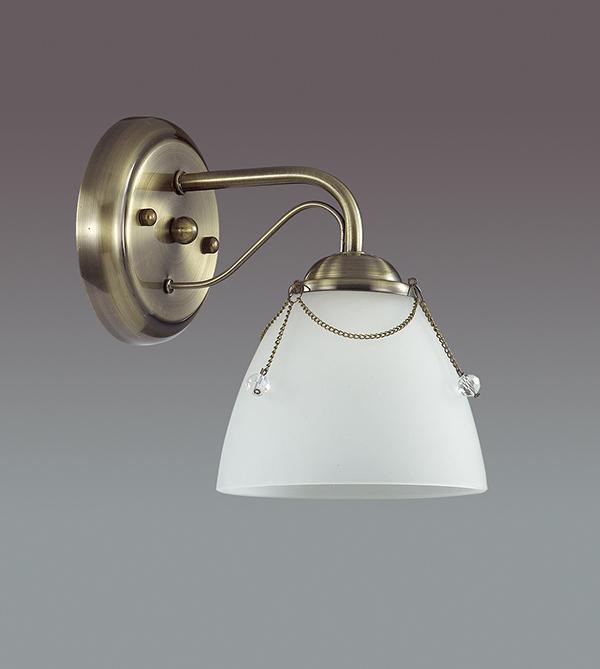 Бра Lumion Debora 3146/1W, 1xE14x60W, бронза, прозрачный, металл, стекло - фото 4