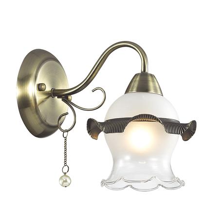 Бра Lumion Zidoni 3239/1W, 1xE14x60W, бронза, матовый, прозрачный, белый, металл, стекло, искусственный жемчуг - миниатюра 1