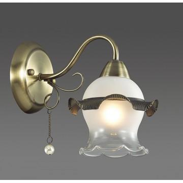 Бра Lumion Zidoni 3239/1W, 1xE14x60W, бронза, матовый, прозрачный, белый, металл, стекло, искусственный жемчуг - миниатюра 3