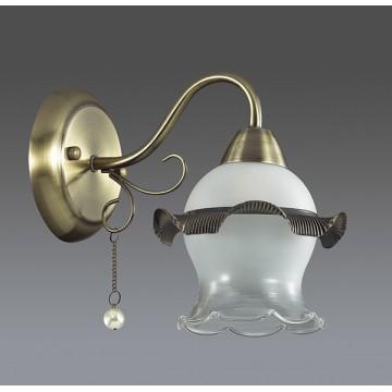 Бра Lumion Zidoni 3239/1W, 1xE14x60W, бронза, матовый, прозрачный, белый, металл, стекло, искусственный жемчуг - миниатюра 4