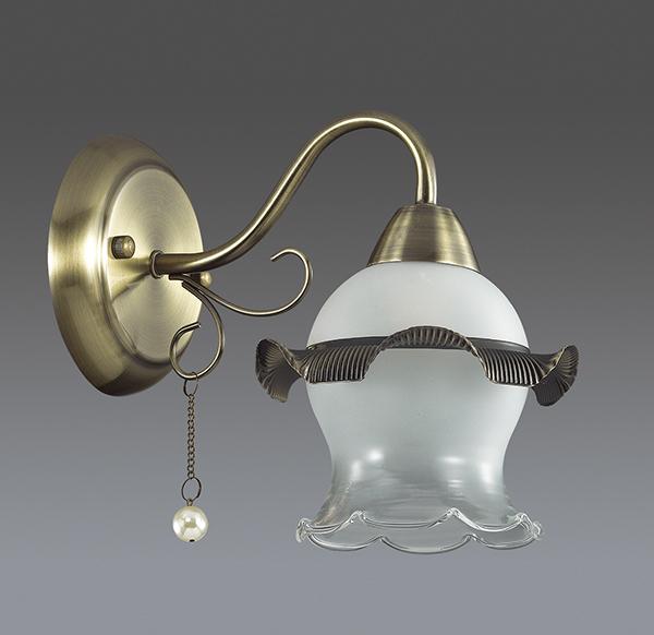 Бра Lumion Zidoni 3239/1W, 1xE14x60W, бронза, матовый, прозрачный, белый, металл, стекло, искусственный жемчуг - фото 4