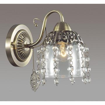 Бра Lumion Doriana 3244/1W, 1xE14x60W, бронза, прозрачный, металл, стекло, хрусталь - миниатюра 3