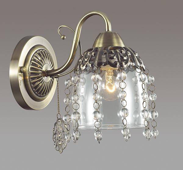 Бра Lumion Doriana 3244/1W, 1xE14x60W, бронза, прозрачный, металл, стекло, хрусталь - фото 3