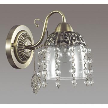Бра Lumion Doriana 3244/1W, 1xE14x60W, бронза, прозрачный, металл, стекло, хрусталь - миниатюра 4