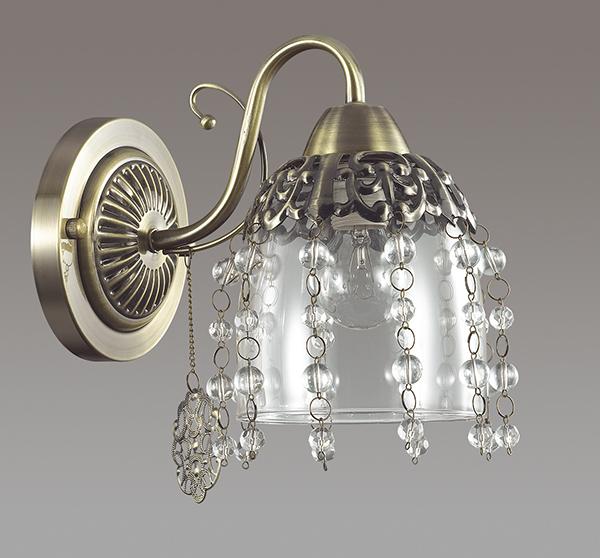 Бра Lumion Doriana 3244/1W, 1xE14x60W, бронза, прозрачный, металл, стекло, хрусталь - фото 4