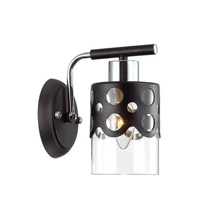 Бра Lumion Colett 3272/1W, 1xE14x60W, венге, прозрачный, металл, металл со стеклом