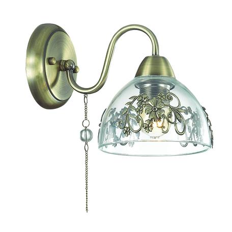 Бра Lumion Absolona 3452/1W, 1xE27x60W, металл, стекло