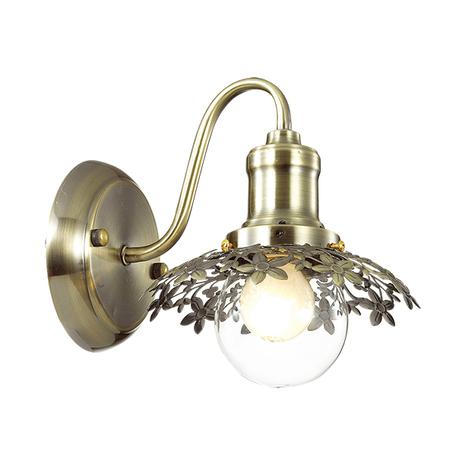 Бра Lumion Adelarda 3468/1W, 1xE14x40W, бронза, прозрачный, металл, стекло