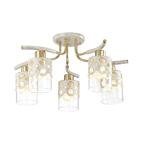 Lumion Colett 3271/5C, 5xE14x60W, металл, стекло - миниатюра 1