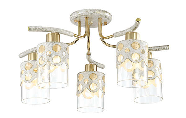 Lumion Colett 3271/5C, 5xE14x60W, металл, стекло - фото 1