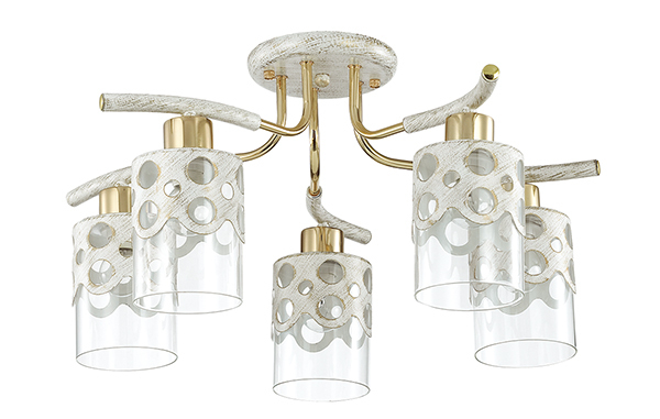 Lumion Colett 3271/5C, 5xE14x60W, металл, стекло - фото 2