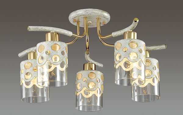 Lumion Colett 3271/5C, 5xE14x60W, металл, стекло - фото 3
