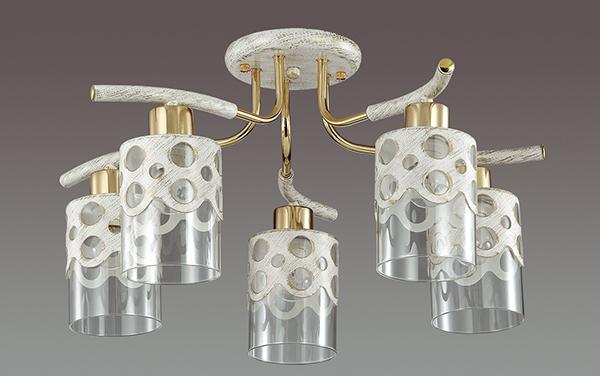 Lumion Colett 3271/5C, 5xE14x60W, металл, стекло - фото 4