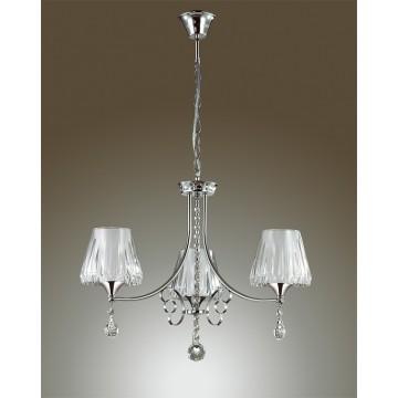Подвесная люстра Lumion Modesta 3411/3, 3xE14x40W, хром, белый, прозрачный, металл, пластик, хрусталь - миниатюра 4