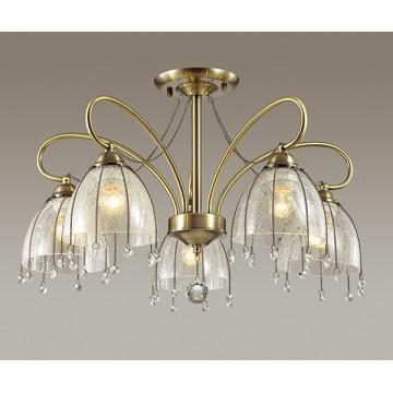 Потолочная люстра Lumion Arletta 3414/5C, 5xE14x40W, бронза, прозрачный, металл, стекло, хрусталь - миниатюра 3