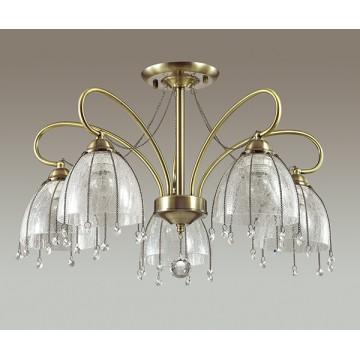 Потолочная люстра Lumion Arletta 3414/5C, 5xE14x40W, бронза, прозрачный, металл, стекло, хрусталь - миниатюра 4