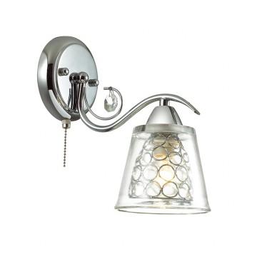 Бра Lumion Polina 3445/1W, 1xE14x60W, хром, прозрачный, металл, стекло, хрусталь