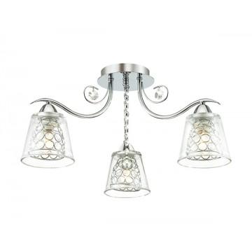Потолочная люстра Lumion Polina 3445/3C, 3xE14x60W, хром, прозрачный, металл, стекло, хрусталь - миниатюра 1