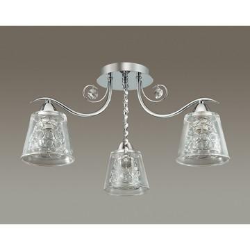 Потолочная люстра Lumion Polina 3445/3C, 3xE14x60W, хром, прозрачный, металл, стекло, хрусталь - миниатюра 4
